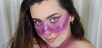 Purple Galaxy Makeup Look